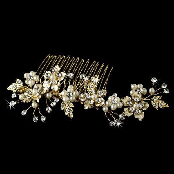 Elegant Gold Bridal Comb