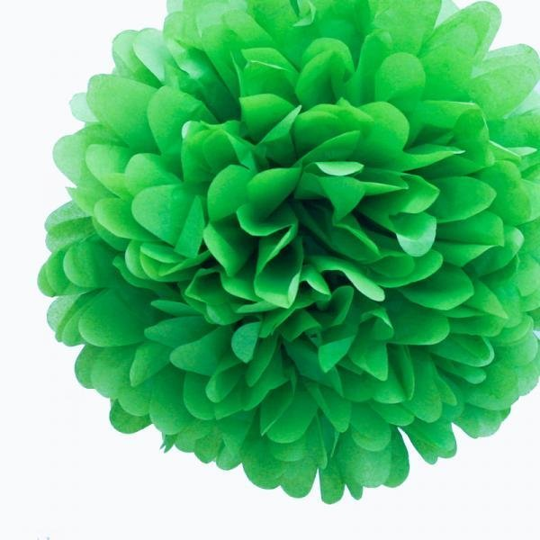 Emerald Green Tissue Pom Poms - Pack of 4