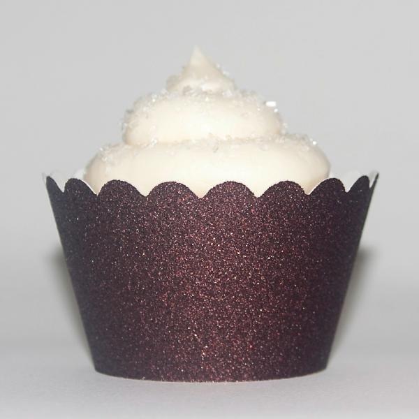 Espresso Glitter Cupcake Wrapper - Pack of 12