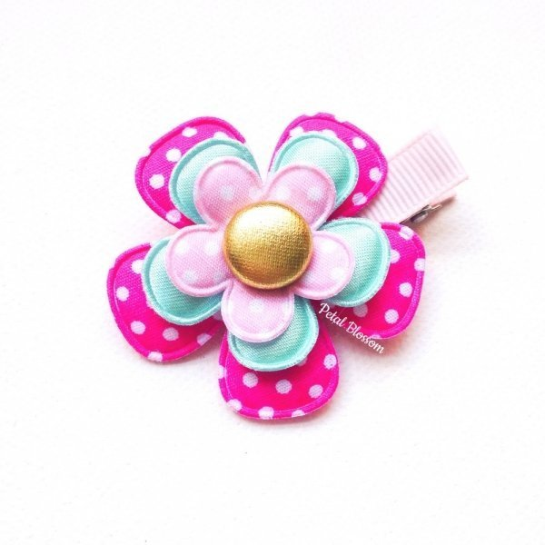 Large Fairy Flower Girls Hair Clip