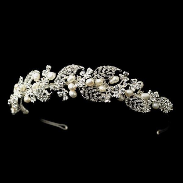 Freshwater Pearl Vine Bridal Headpiece
