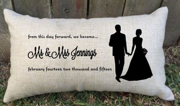 From This Day Forward Personalised Wedding Lumbar Cushion