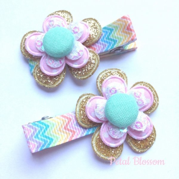 Fruit Tingles Pastel Rainbow Girls Hair Clips