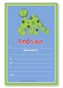 Dinosaur Party Invitations - Pack of 12