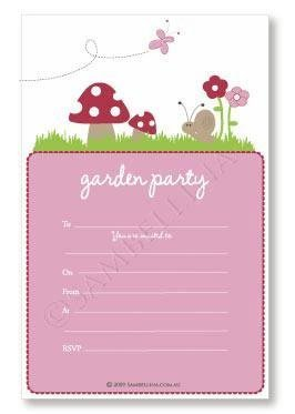 Garden Party Invitations - Pack of 12