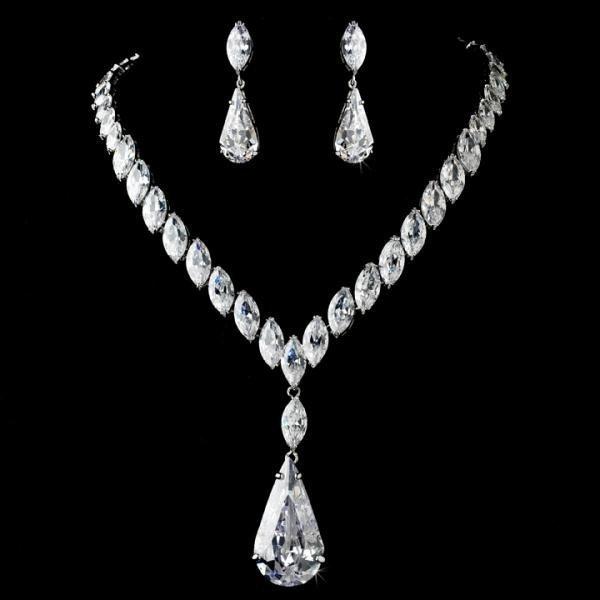 Glamorous Cubic Zirconia Bridal Jewellery