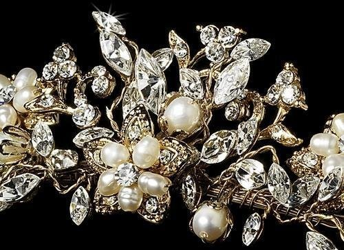 Gold & Champagne Bridal Tiara