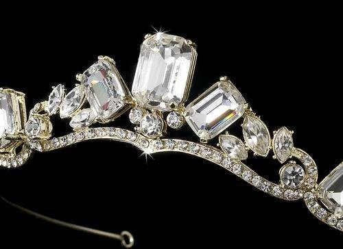 Gold Princess Rhinestone Majesty Tiara