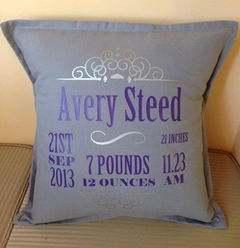 Baby Girl Birth Announcement Pillows