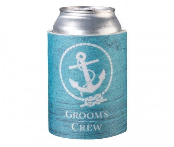 Grooms Crew Blue Stubby Cooler