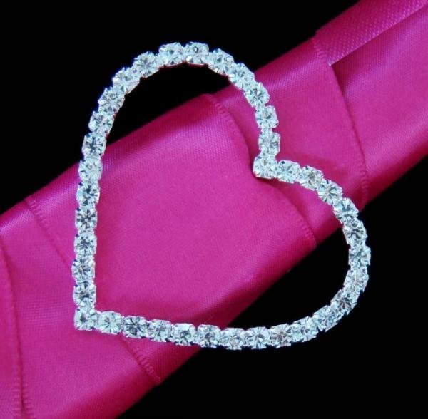 Crystal Heart Bouquet Buckle