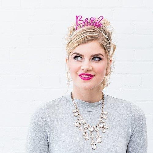 Pink Bride Bachelorette Party Headband