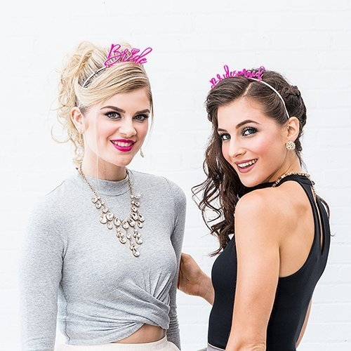 Pink Bridesmaid Bachelorette Party Headband