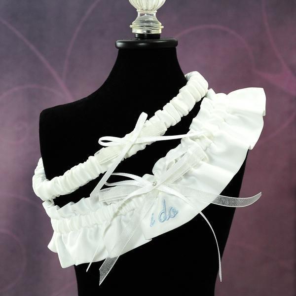 White Wedding Garter: Bridal Accessories