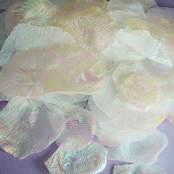 AB Iridescent Silk Rose Petals - 100 Petals