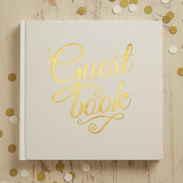 Ivory & Gold Foil Wedding Guest Book