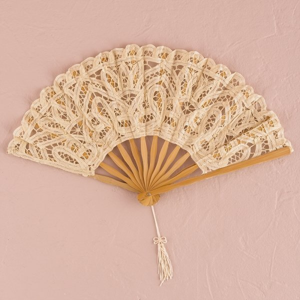 Ivory Lace Antique Hand Fan