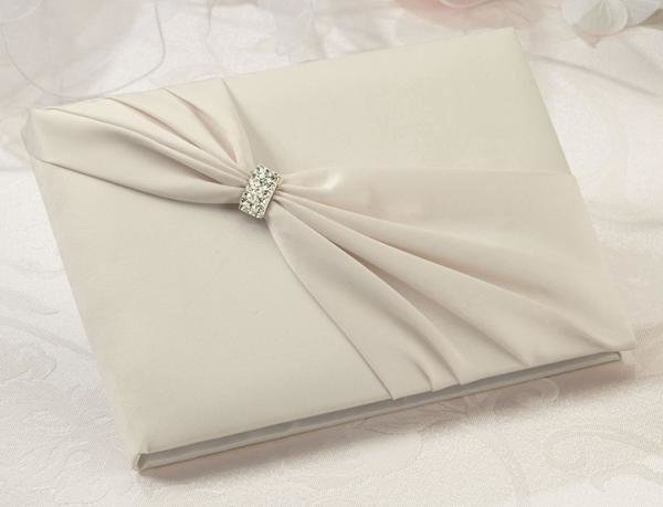 Ivory Sash Wedding Guest Book