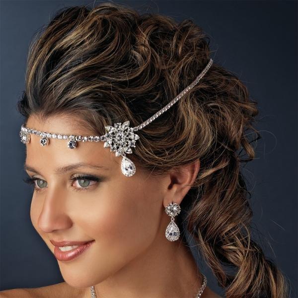 Silver Kim Kardashian Inspired Bridal Headpiece