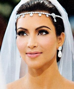 Silver Kim Kardashian Inspired Bridal Headpiece  0f480014331