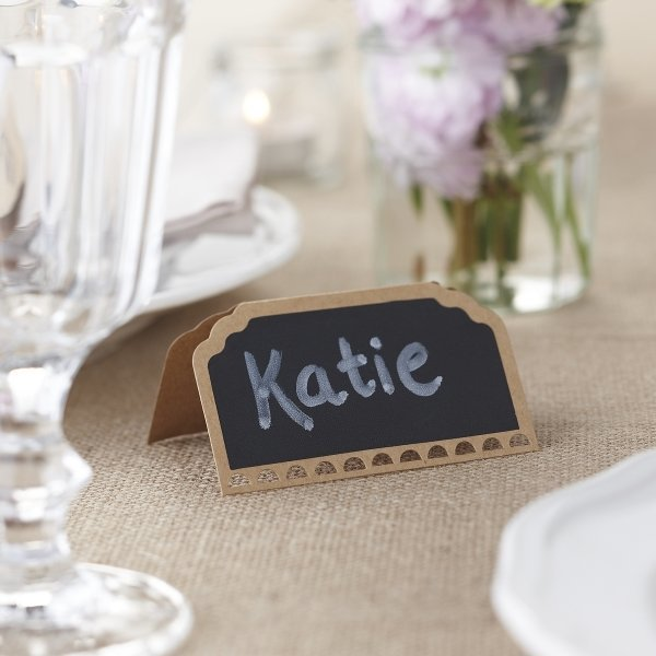 Vintage Kraft Chalkboard Place Cards