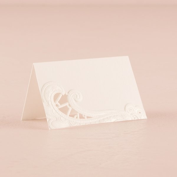 Lace Opulence Laser Embossed Place Cards