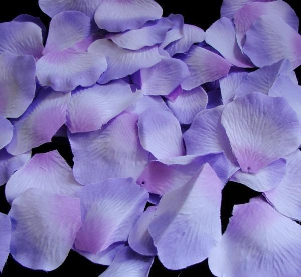 Lavender three-tone Silk Rose Petals - 100 Petals