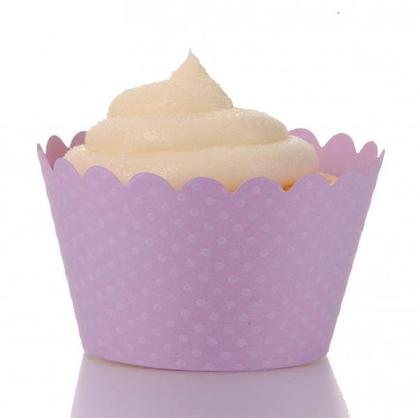 Lavender Cupcake Wrappers