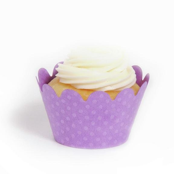 Orchid Mini Cupcake Wrappers - Pack of 18