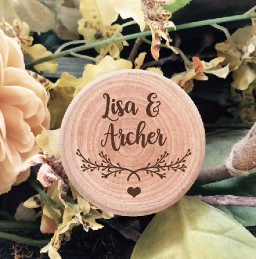 Love Branches Personalised Wooden Wedding Ring Box