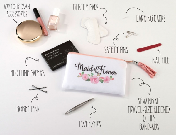 Maid Of Honor Emergency Survival Wedding Day Kit - Mini Purse