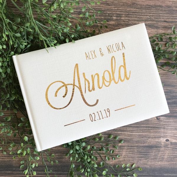 Modern Personalised Wedding Guest Book