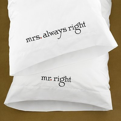 Mr & Mrs Right Pillow Cases