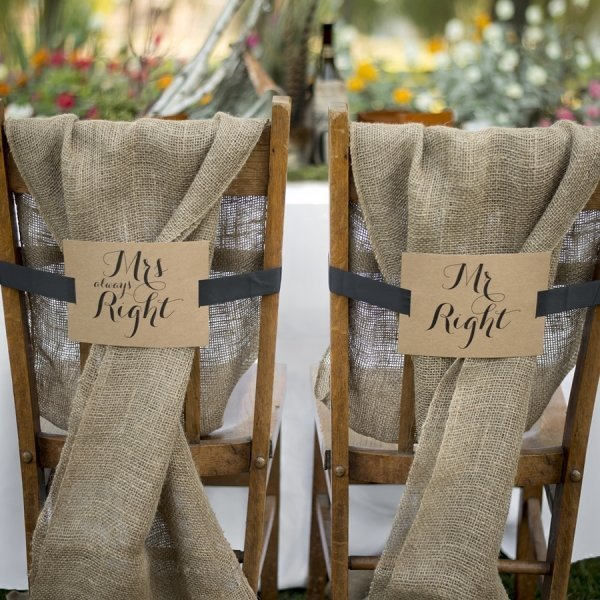 Mr & Mrs Kraft Chair Banners