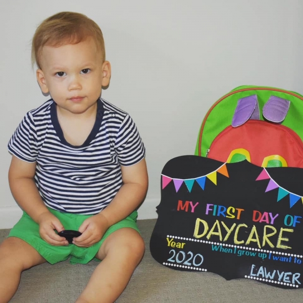 Reversible My First/Last Day Of School Reusable Chalkboard