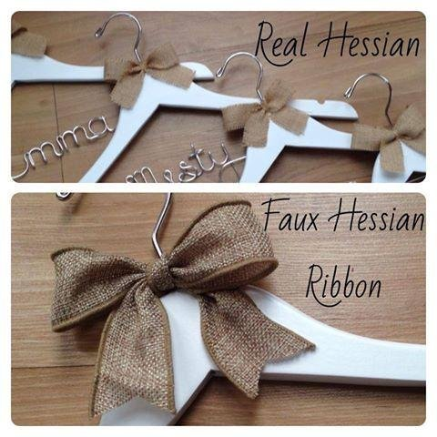 Personalised Coat Hanger With Rustic Bow