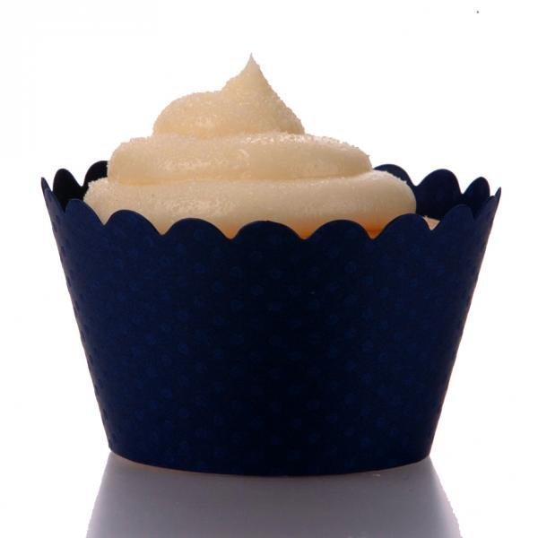 Emma Navy Blue Cupcake Wrappers Pack of 12