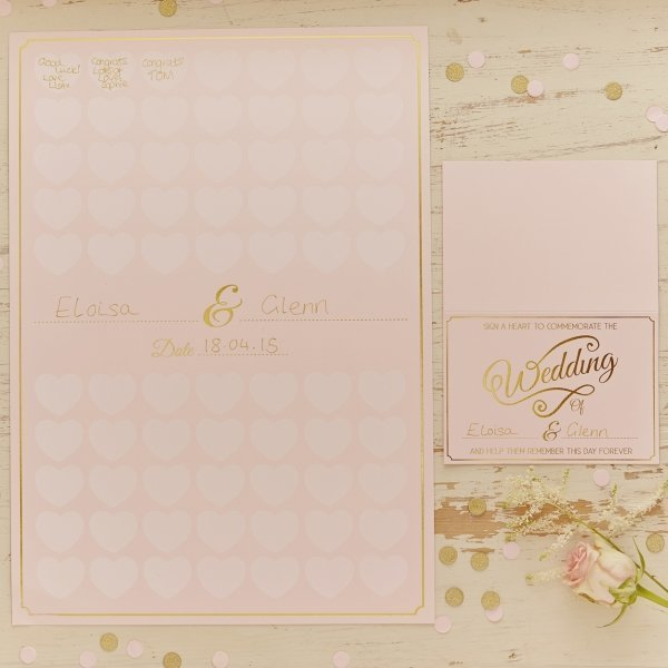 Pale Pink & Gold Poster Guest Book