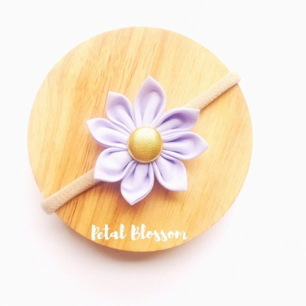 Lavender Fabric Flower Blossom Girls Headband