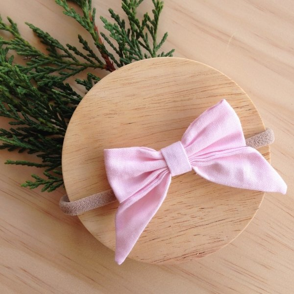 Pastel Pink Bow Girls Hair Accessory