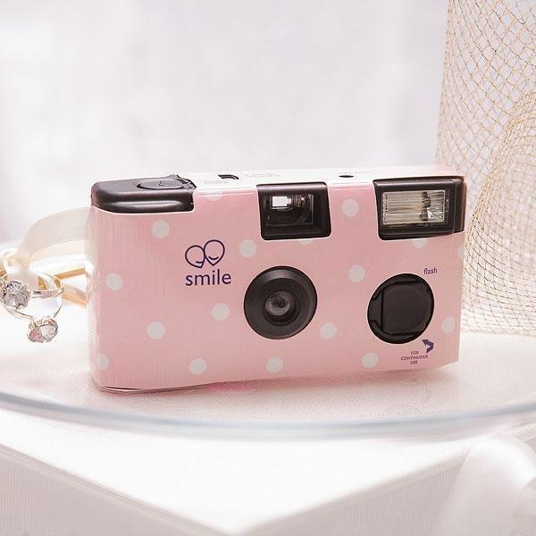 Pastel Pink Polka Dot Disposable Camera Pink Wedding Theme Shop By Colour