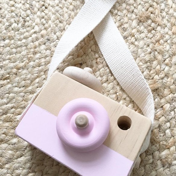 Kids Wooden Toy Cameras
