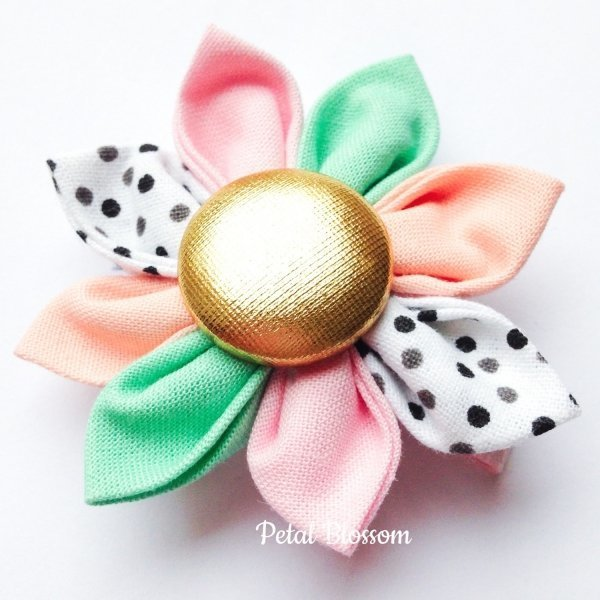 Sugar Flower Pastel Girls Hair Clip