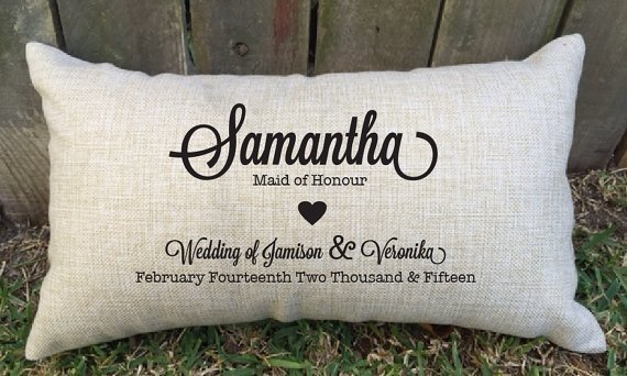 Personalised Bridal Party Members Lumbar Cushions - Gift