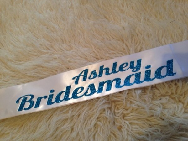 Personalised Bridesmaid Sashes