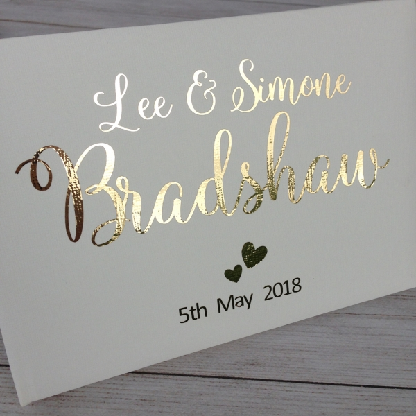 Swirly Personalised Wedding Guest Book
