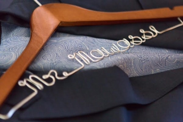 Personalised Wedding Coat Hanger With Large Bow