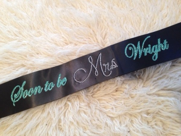 Soon To Be Mrs Bling Personalised Hens Night Sash