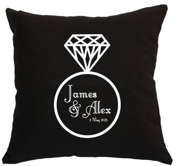 Personalised Ring Design Wedding Cushion