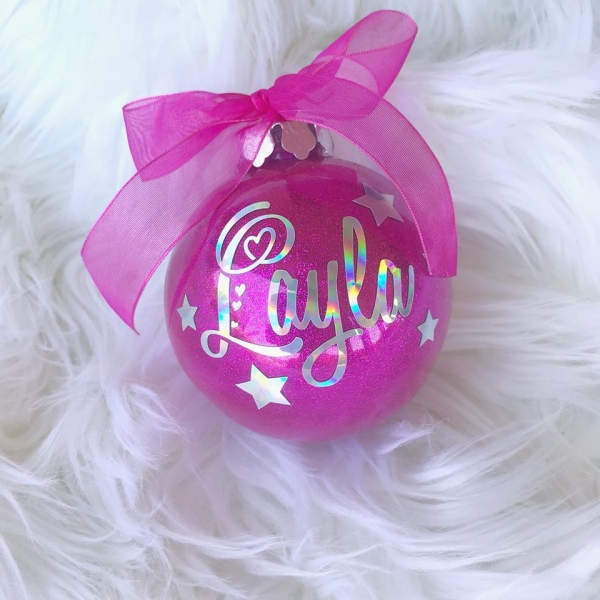 Personalised Christmas Bauble Decorations